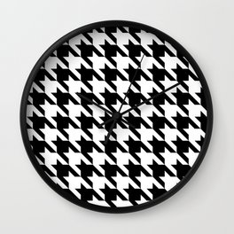 Classic Houndstooth Wall Clock