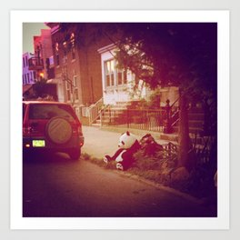 Sad Panda in Brooklyn... Art Print