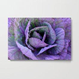 Purple Frost Metal Print