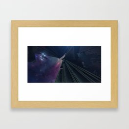 What Goes on in the Depths of Space? Framed Art Print