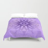 sacred geometry Duvet Covers featuring Sacred Geometry  Mark Day  by MARK DAY