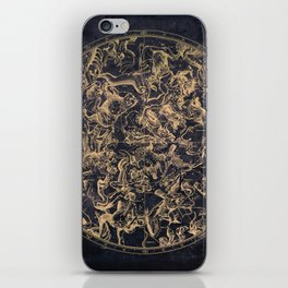 Vintage Constellations & Astrological Signs | Yellowed Ink & Cosmic Colour iPhone Skin