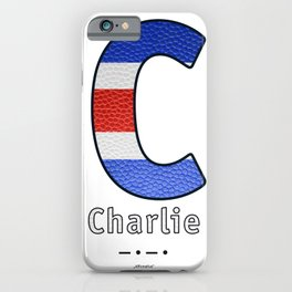 Charlie - Navy Code iPhone Case