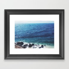 Fading summer Framed Art Print