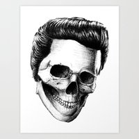 elvis presley Art Prints featuring Elvis Presley by Motohiro NEZU