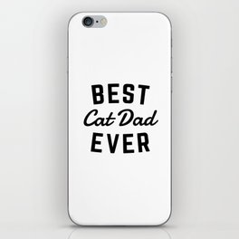 Best Cat Dad Ever iPhone Skin