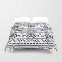 peru Duvet Covers featuring From Peru to You by Katie Boland