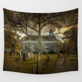 The Haunted Church Wall Tapestry