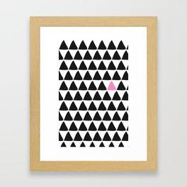 Black triangles & a weird one. Framed Art Print