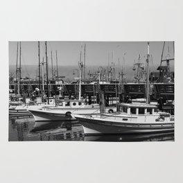 Boats At Fishermans Wharf San Francisco Rug