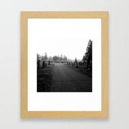 Dark Cemetery Framed Art Print