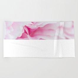 Pink Flower Petals Beach Towel