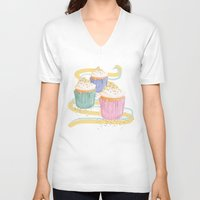 sprinkles V-neck T-shirts featuring Sprinkles by Hayley Bowerman Design