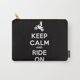 KEEP CALM AND RIDE ON - MOTOCROSS Carry-All Pouch
