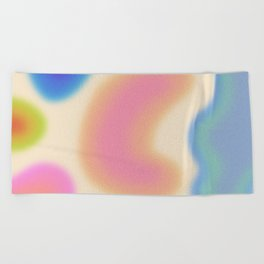 Funky Clouds (Dreamy Abstract Art) Beach Towel
