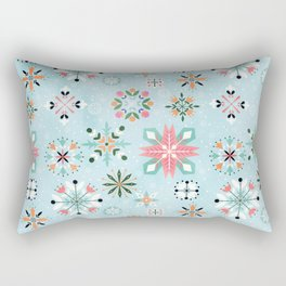 Christmas snowflakes pattern Rectangular Pillow