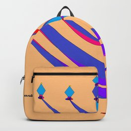 A Chanukah Greeting with Menorah Backpack