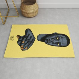 2020 Image of Face And Hands by Marcellous Lovelace Rug