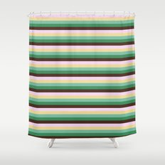 Earth Tones Skinny STRIPES Shower Curtain