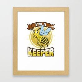 Beekeeper Vintage I'm a Beekeeper Gift Framed Art Print