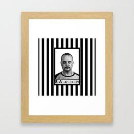 "Bad boys ""what ya gonna do""  Framed Art Print"