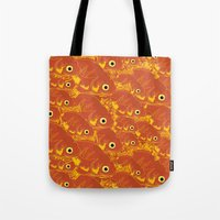 goldfish Tote Bags featuring Goldfish by Monty