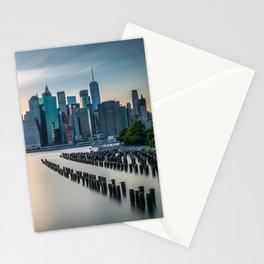 Sunset Over Manhattan, New York Stationery Cards