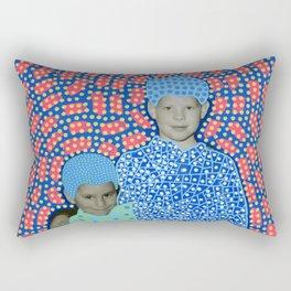 Blue Minty Friendship Rectangular Pillow
