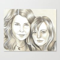 gilmore girls Canvas Prints featuring Gilmore Girls by ShayMacMorran