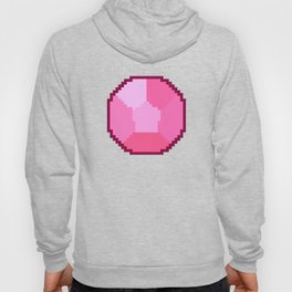 Rose Quartz Pixel Gem Hoody