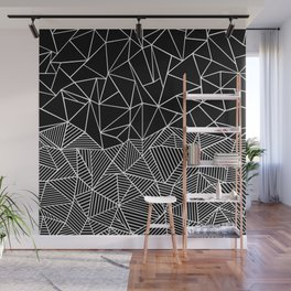 Ab Half and Half Black Wall Mural