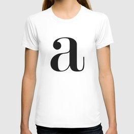 "Monogram Series Letter ""a""  T-shirt"