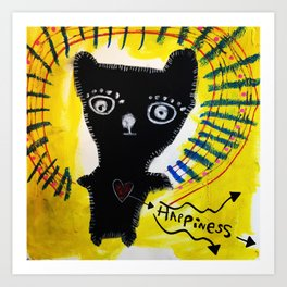 Happiness Bear Art Print