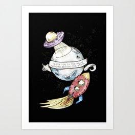 Moon Love Children's Room Poster Art Print