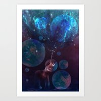 bubbles Art Prints featuring Bubbles by ShadowPaw Pictures