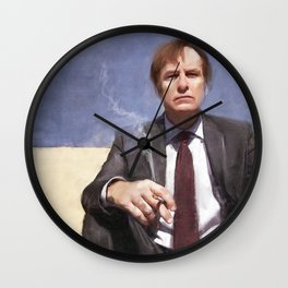Jimmy McGill Smokes A Cigarette - Better Call Saul Wall Clock