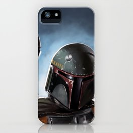 Boba Fett Art Portrait iPhone Case