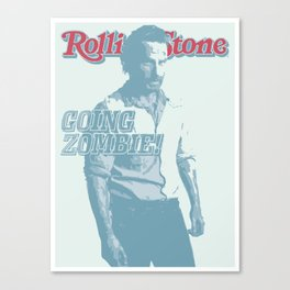 The Walking Dead Rolling Stone (Rick Grimes) Canvas Print