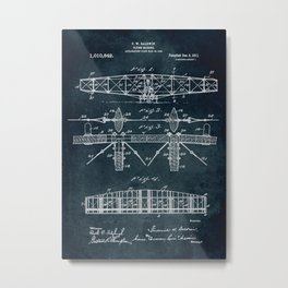 Flying machine Patent Metal Print