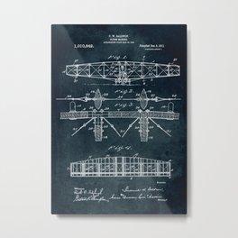 Flying machine Patent Metal Print