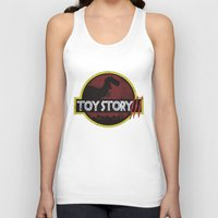 toy story Tank Tops featuring toy story / jurassic park by tshirtsz
