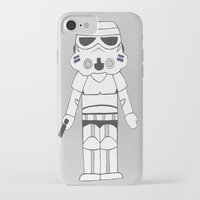 storm trooper iPhone & iPod Cases featuring Storm Trooper by The Naptime Artist