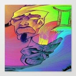 Gemini Blurred lines Canvas Print
