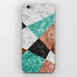 Marble Geometric Background G434 iPhone Skin