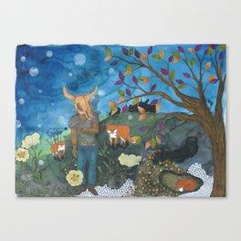 Father Fox Canvas Print