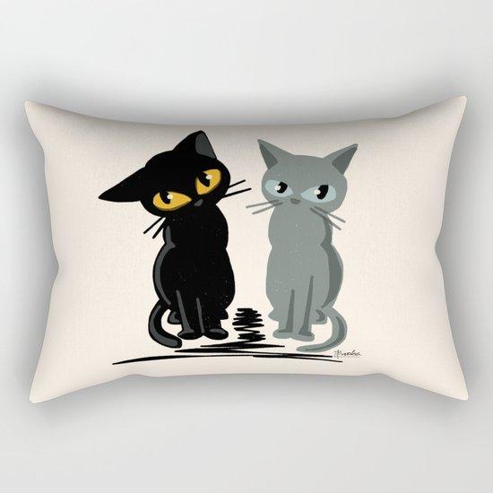 Black and gray Rectangular Pillow