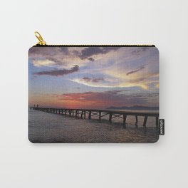 Anglers in the sunrise at the sea Carry-All Pouch