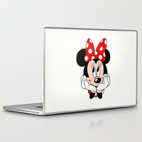 minnie mouse Laptop & iPad Skins featuring Very cute Minnie Mouse by Yuliya L