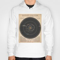 solar system Hoodies featuring Solar System by Le petit Archiviste