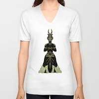 ornate V-neck T-shirts featuring Ornate spirituality by Barruf